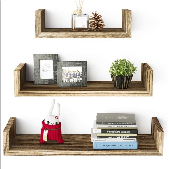 3 solid wood Floating Shelves Brand New